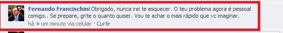 Rodrigo ameaça