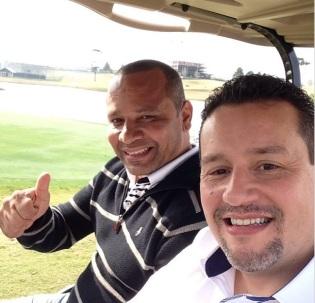 Malaquias e Neymar pai no golfe