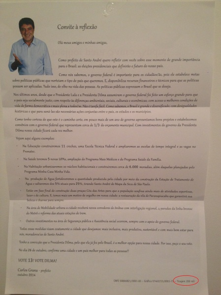 carta prefeito Santo André