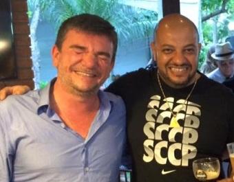 Andres Sanches e Carlos Roberto Elias
