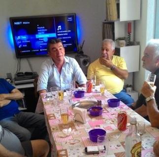 Andres Sanches e Paulo Garcia (Kalunga) na residência de Antonio Rachid